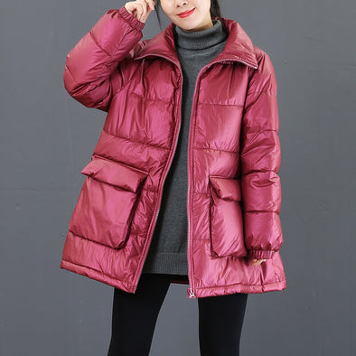 Fashion Big Pocket Thick Winter Coat Women Casual Outfits 3765