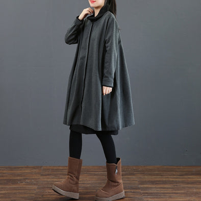 Loose Button Down Knitted Wind Coat Women Casual Outfits 3796