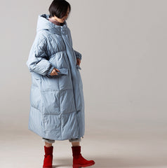 Women Loose Long Down Coat Casual Thick Winter Outfits Y7886