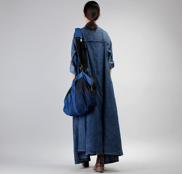 Casual Vintage Irregular Denim Wind Coat For Women C32127
