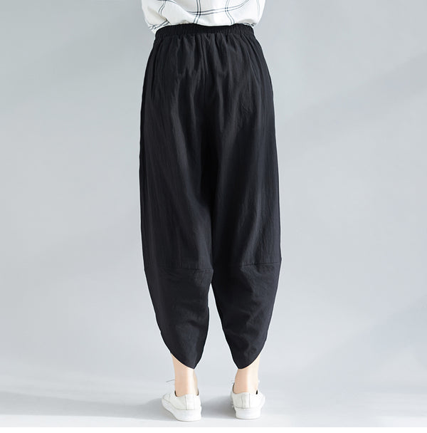 Loose Cotton Linen Casual Pants For Women K31120