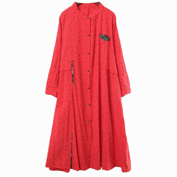 Women Loose Button Down Maxi Shirt Dresses For Spring 6123