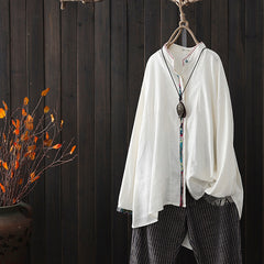Women National Loose Shirt Spring Casual Blouse S8014