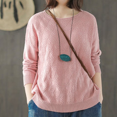 Cute Pure Color Loose Knitwear Women Casual Spring Tops S549