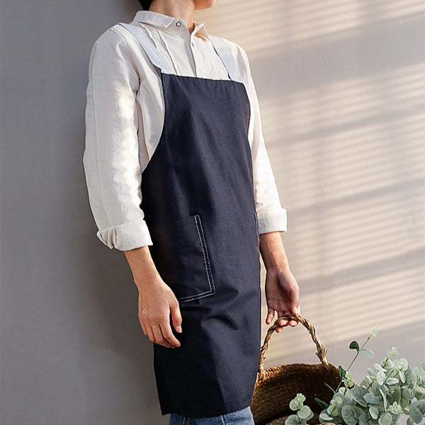 Cotton Linen Apron Waitress Bar Bakery Catering Painter Florist Gardener Workwear A18021