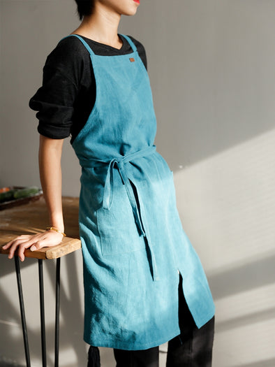 Nordic Style Cotton Linen Apron Waitress Bar Bakery Catering Painter Florist Gardener Workwear A18025