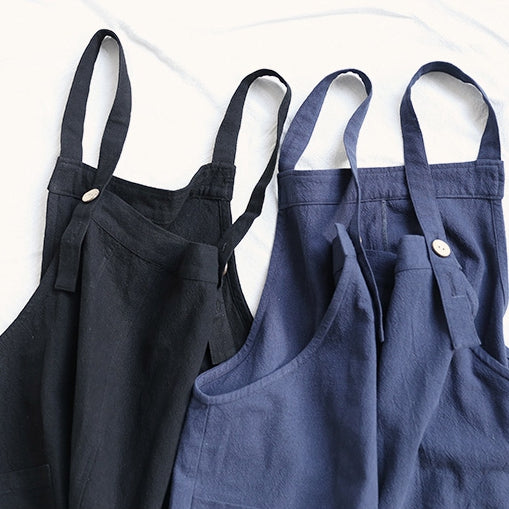 Cotton Linen Apron Painter Bar Florist Gardner Bakery Catering Workwear A18026