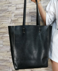 Women Casual Leather Tote Bag Full Grain Shoulder Bag B18038