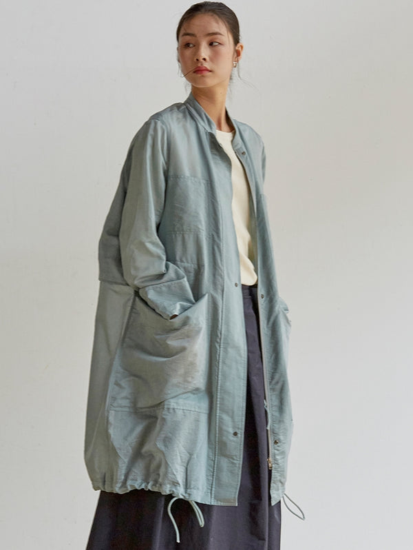 Loose Drawing Wind Coat Women Casual Spring Outfits C18031