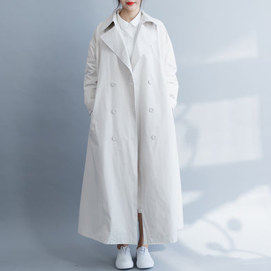 Beige Casual Wind Coat Women Loose Spring Outfits C18036