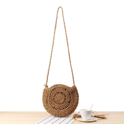 Cute Bowknot Twine Handmade Shoulder Bag For Women B26030
