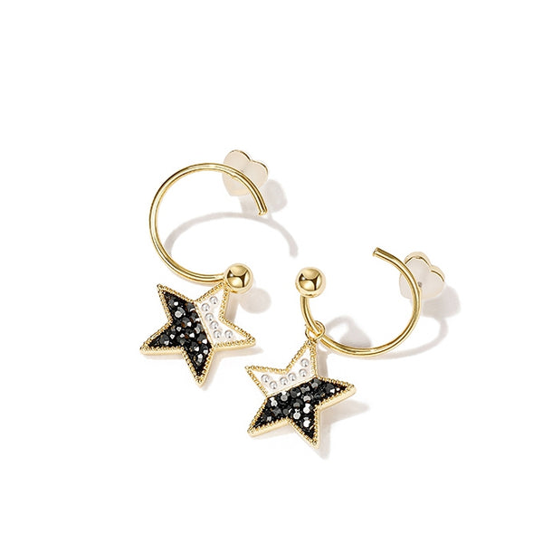 Women Metal Star Earring 2019 Fashion Eat Stud Ear Accessories Z2771