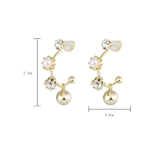 Vintage Women Earring Fashion Metal Ear Stud Z2810