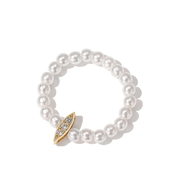 Korea Style Imitation Pearl Ring Women Simple Finger Accessories Z2774