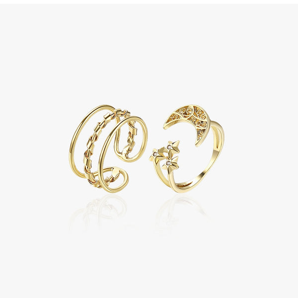 Simple Adjustable Women Ring Fashion Metal Hand Accessories Z2891