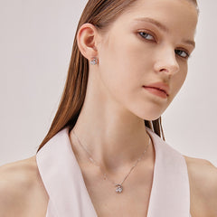 Simple Cat Women Necklace Fashion Silver Collarbone Accessories Z2885