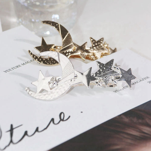 Star Moon Metal Women Hair Pins Fashion Hair Clips Hair Accessories C590