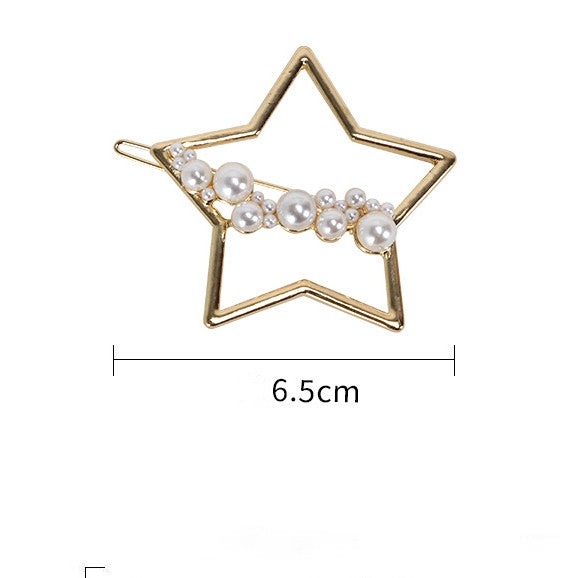 Girls Elegant Hair Clips Fashion Imitation Pearls Hair Pins C566