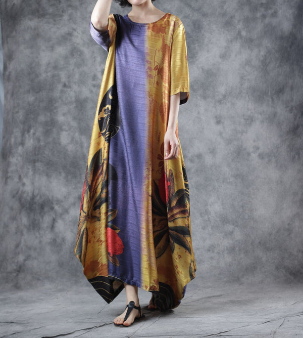 Summer Loose Maxi Dresses Casual Long Gown For Women W3109