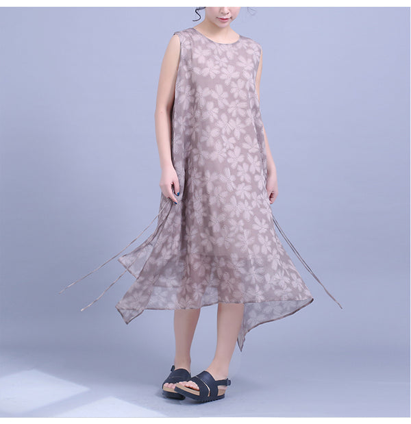 Cute Summer Floral Sundresses Women Loose Clothes Q23040
