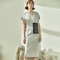Loose Women Gray Shirt Dresses Summer Casual Outfits S1929