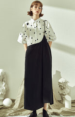 Summer Loose Wide-leg Overall Women Black Jumpsuits HS517