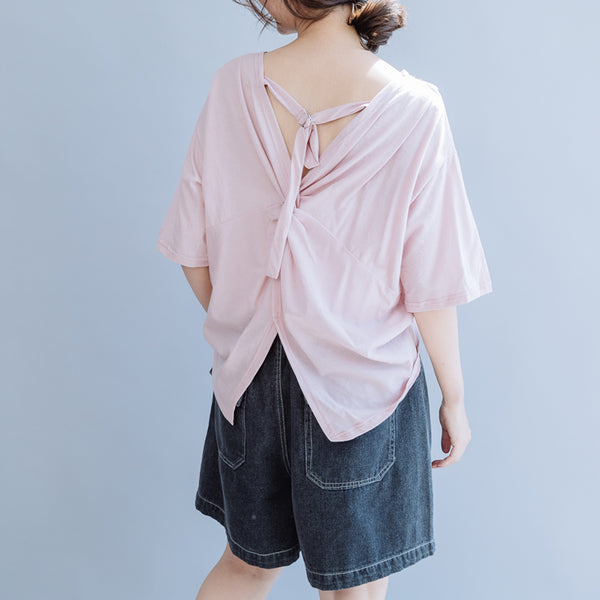 Cute White And White Cotton Casual Shirt Women Loose  Blouse For Summer S7053