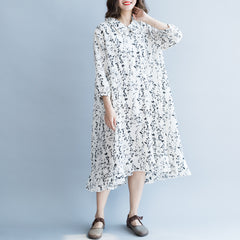 Summer Plus Chiffon Floral Dresses For Women Q6052