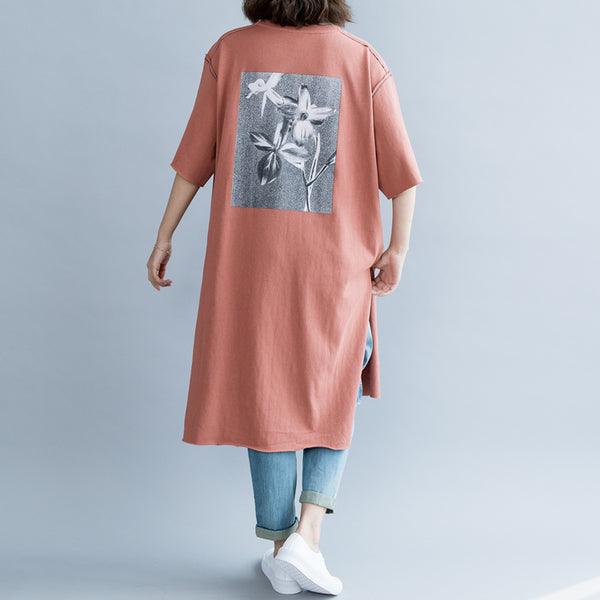 Women Simple Cotton Loose Shirt Dresses For Summer Q6057