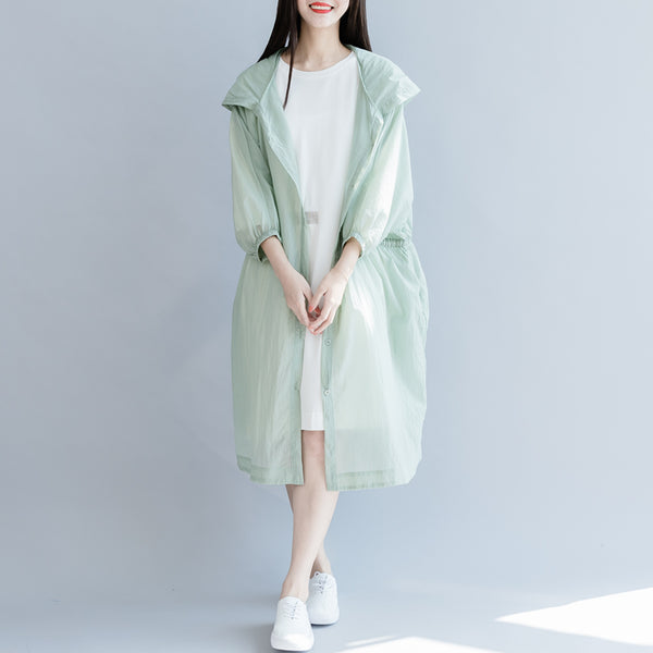Summer Loose Hoodie Thin Coat Women Casual Cool Lycras C27050