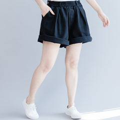 Summer Wide-leg Cotton Casual Shorts Women Cool Pants K27052