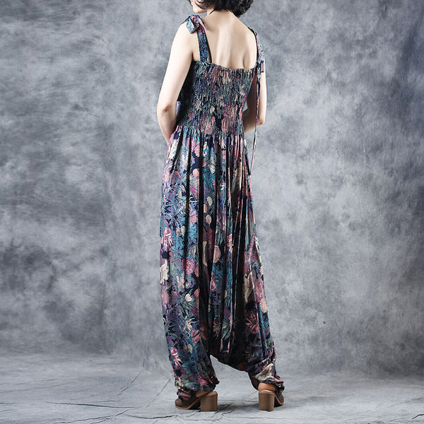 Summer Strap Cotton Overalls Women Loose Cool Jumpsuit K27054