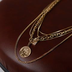 Women Summer Necklace Metal Multideck Collarbone Accessories E2998