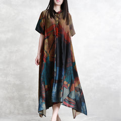 Summer Simple Loose Maxi Dresses Women Casual Clothes Q3066