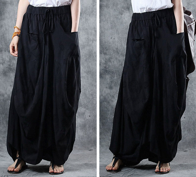 aec52b65a5 Vintage Loose Cotton Skirt Women Summer Casual Clothes Q12060 ...