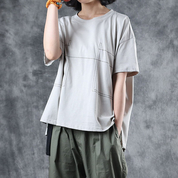 Simple Summer Cotton Shirt Women Loose Blouse S12061
