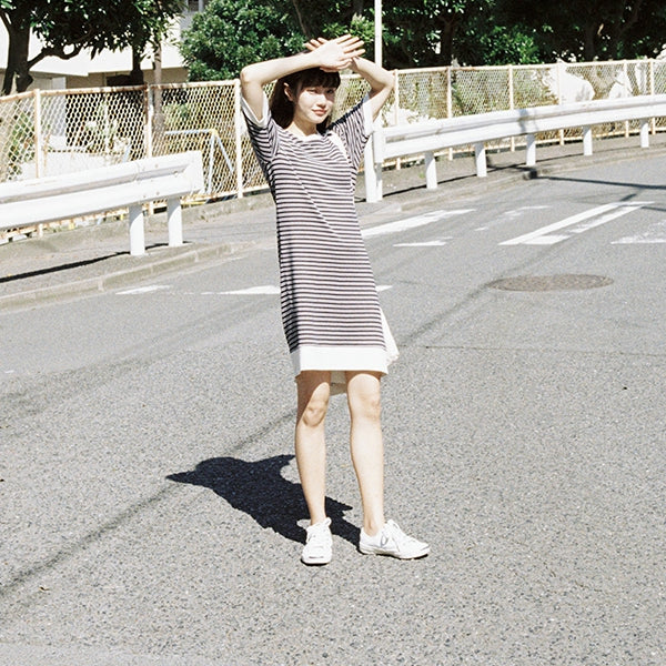 Loose Striped Cotton Summer Dresses Women Summer Casual Clothes Q18064