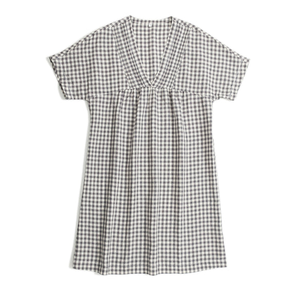 Gary Plaid Linen Summer Dresses Women Casual Cool Outfits Q18067