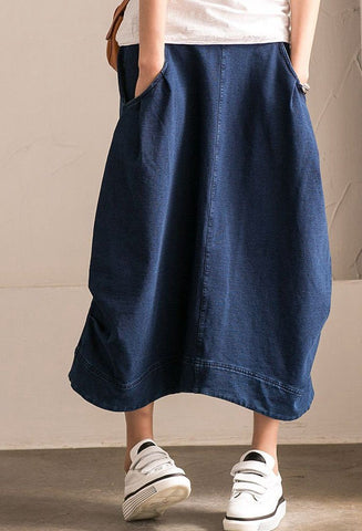 2017 Denim Cotton Skirt Simple Dress Women Clothes Q1186B
