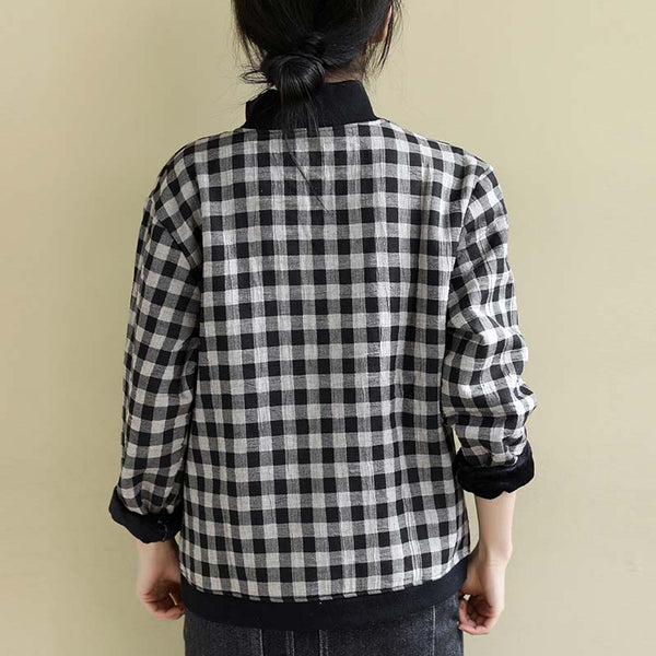 Women's Casual Plaid Splicing Tops