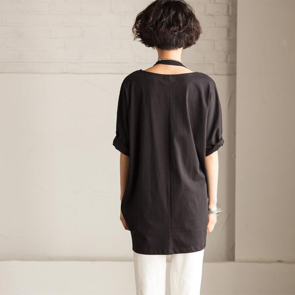 White/Black/Gray Simple Big Letter T-shirt Causel Matching Blouse Women Clothes T50A - FantasyLinen