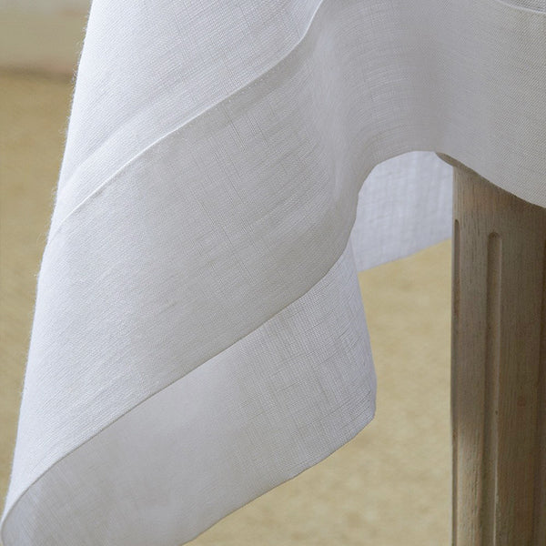 Linen Tablecloth In Various Colors Round Square Rectangular Table Linens Custom Linen Fabric Tablecloth