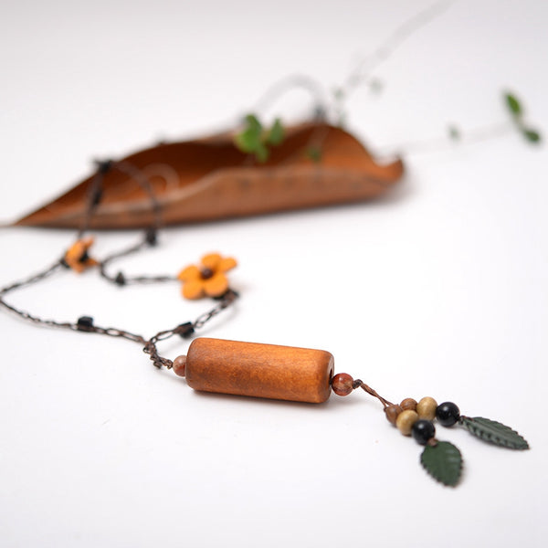 Fashion Simply Handmade Wood Long Necklaces For Women