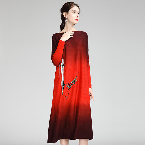 Fashion Casual Knitted Dresses Women Loose Clothes T0099