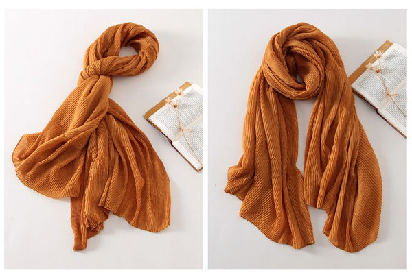 Fashion Plicated Vintage Multicolor Big Scarves For Women Accessories E1402