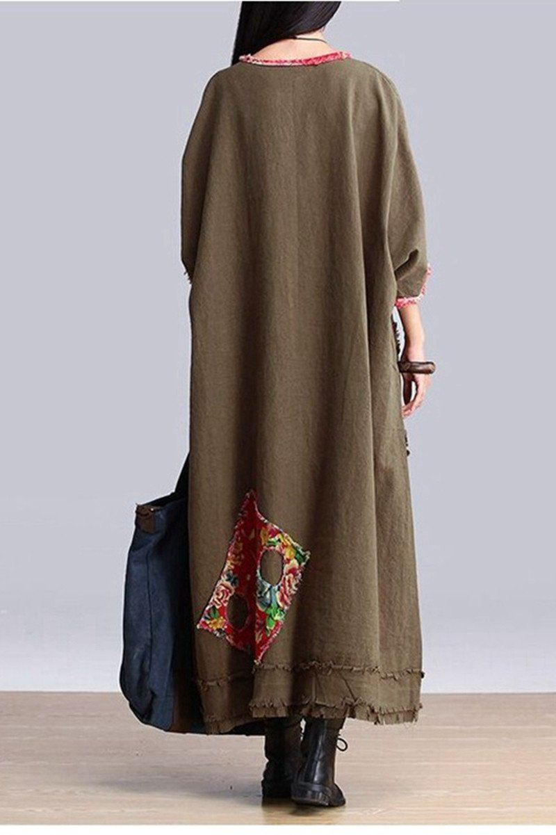 big pocket maxi size casual dresses women clothes