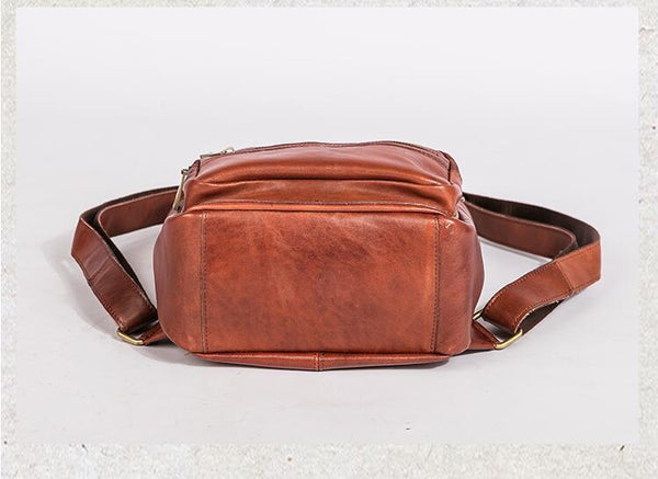 Vintage Top Grain Leather Backpack For Girls, Leather Handbag - FantasyLinen