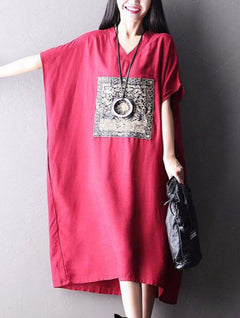 Big Size Casual Loose Long Dress Women Clothes Q2113A