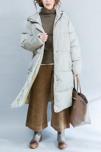 Green Fashion Down Jacket Maxi Size Winter Coat