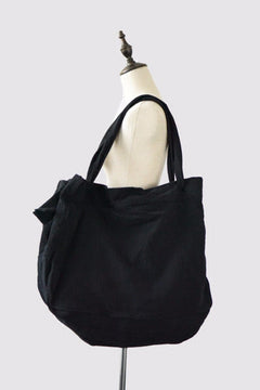 Black Big Bag Handmade Linen Single Shoulder Bag Travel Bag Summer Women Handbag